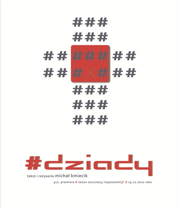 """""""Dziady"""", reż. Michał Kmiecik, plakat (źródło: materiał prasowy)"""