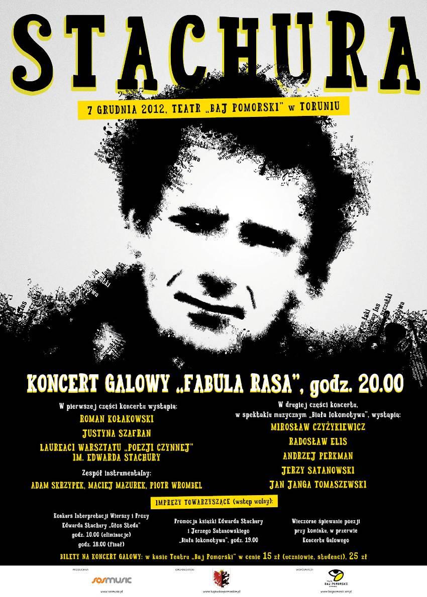 """Koncert galowy """"Fabula Rasa"""", Teatr """"Baj Pomorski"""", Toruń, plakat (źródło: materiał prasowy)"""