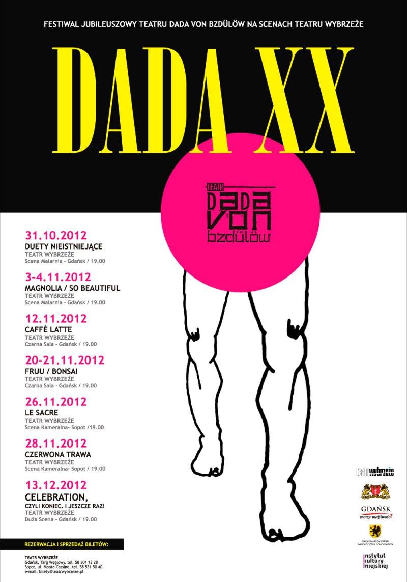 Festiwal Jubileuszowy Teatru Dada von Bzdülöw, Teatr Wybrzeże, Gdańsk, plakat (źródło: materiał prasowy)