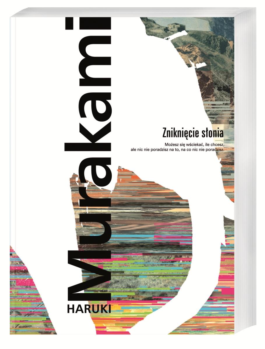 """""""Zniknięcie słonia"""", Haruki Murakami, okładka (źródło: materiał prasowy)"""