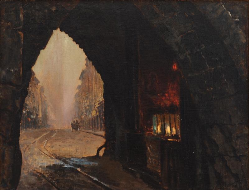 """Leon Wyczółkowski, """"Brama floriańska"""", 1906, MOB (źródło: materiały prasowe organizatora)"""