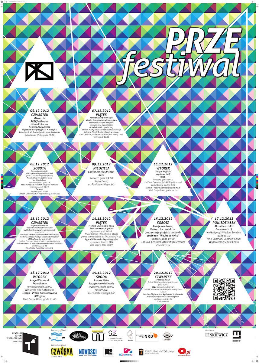 PRZEfestiwal, CSW Znaki Czasu w Toruniu, plakat (źródło: materiały prasowe organizatora)