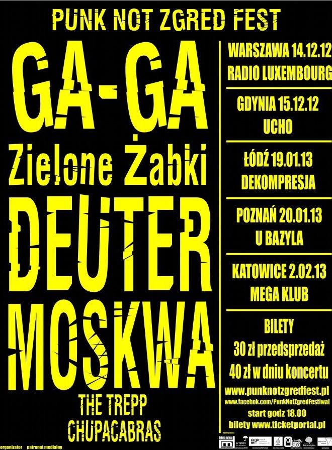 Plakat Punk Not Zgred Fest (źródło: materiały prasowe)