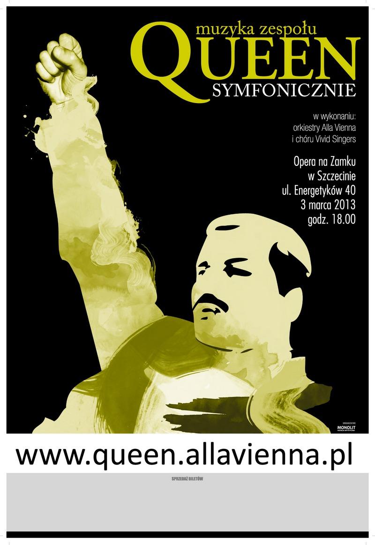 Queen symfonicznie, plakat (źródło: materiały prasowe)