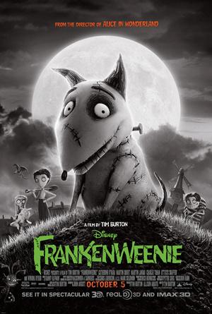 """""""Frankenweenie"""", reż. Tim Burton - plakat (źródło: Wikipedia. Wolna Encyklopedia)"""