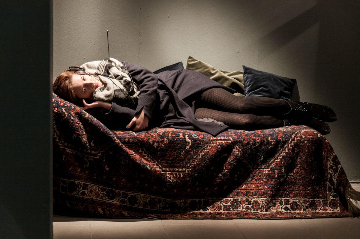 """Praca Darii Malickiej, wystawa """"Mleczne zęby"""", Galeria BWA w Katowicach, fot. Barbara Kubska (źródło: materiały prasowe organizatora)"""