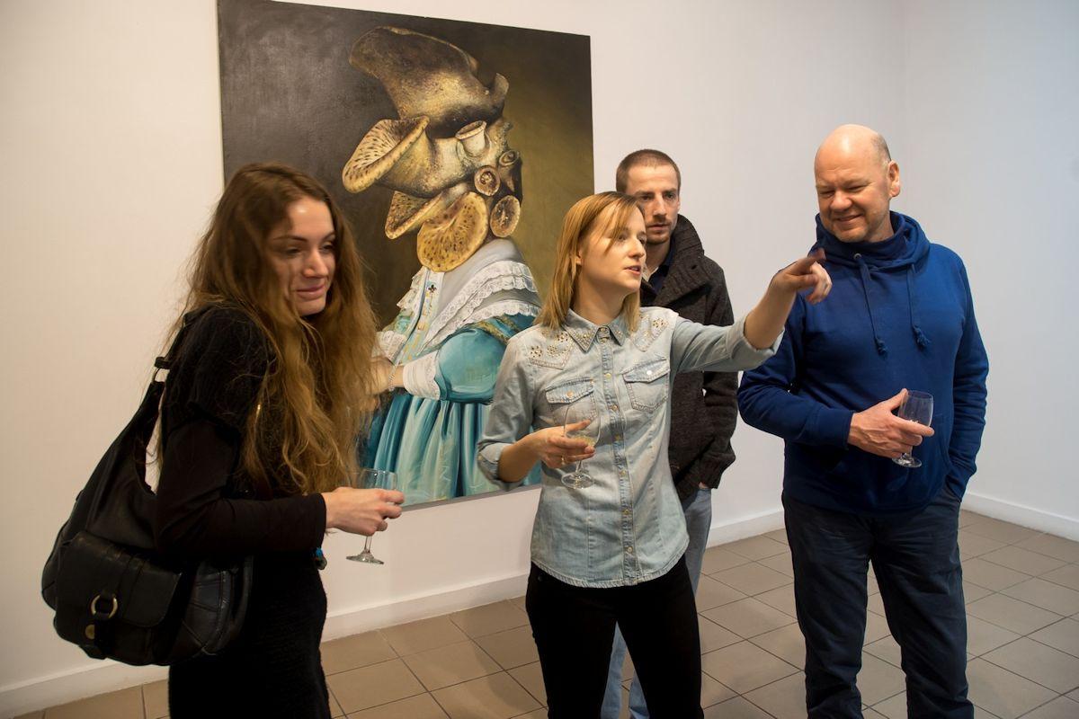Wernisaż wystawy Ewy Juszkiewicz w Galerii Kameralnej w Słupsku, 18 stycznia 2013 r. (źródło: materiały prasowe organizatora)