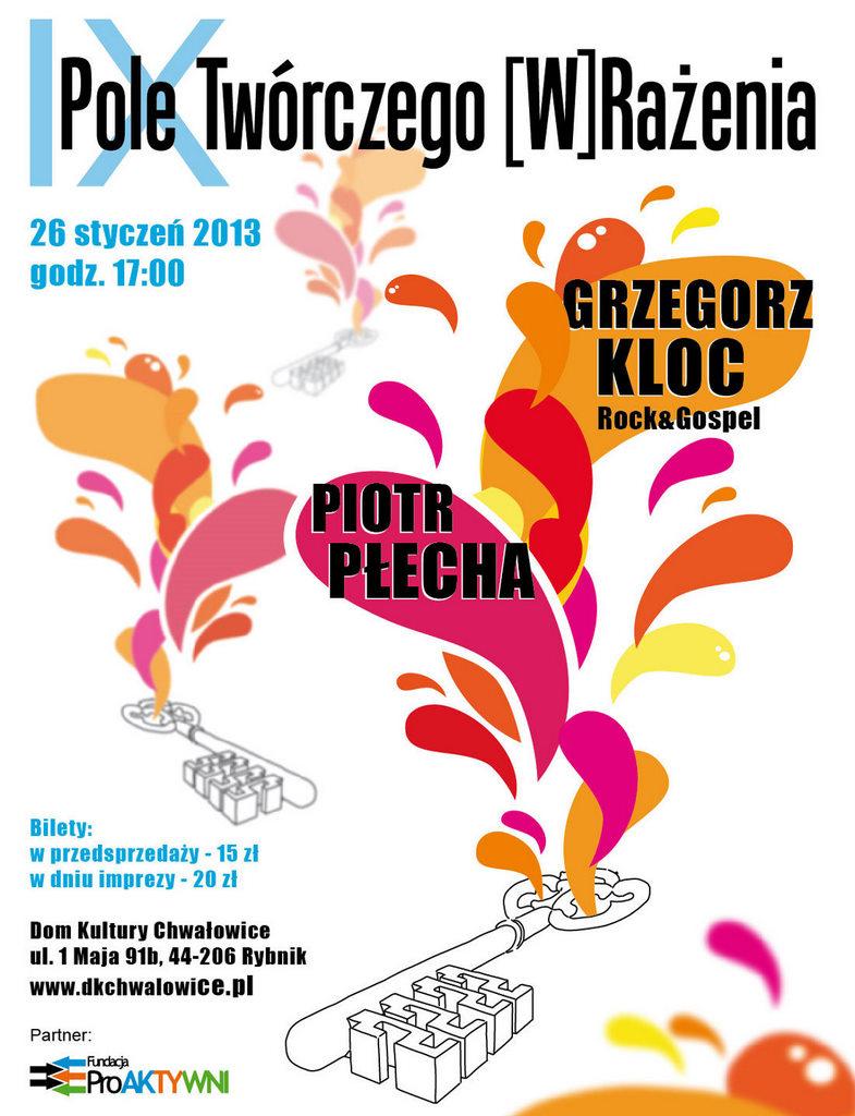 """Festiwal """"Pole Twórczego (W)Rażenia"""", plakat (źródło: materiały prasowe)"""