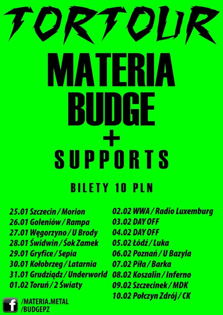 Materia, plakat trasy koncertowej (źródło: materiały prasowe)
