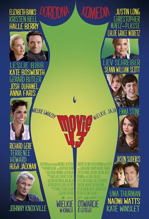 """""""Movie 43"""" - plakat (źródło: materiały prasowe)"""