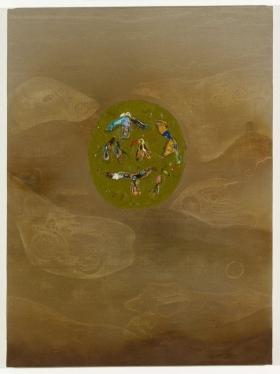 Peter Böhnisch, Bez tytułu, 2012; akryl, pigment, wosk na płótnie (źródło: materiały prasowe organizatora)