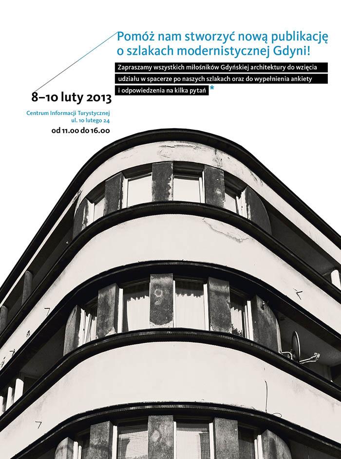 Konsultacje dot. Gdyńskiego Szlaku Modernizmu, plakat (źródło: materiały prasowe organizatora)