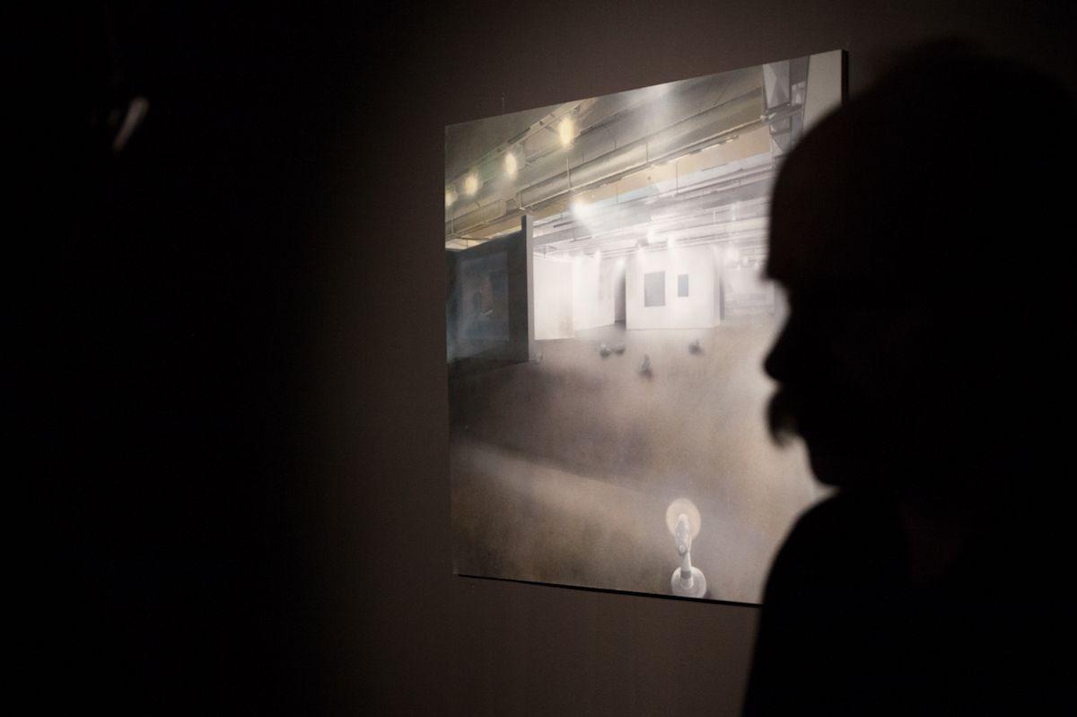 """Praca Szymona Kobylarza, wystawa """"Mleczne zęby"""", Galeria BWA w Katowicach, fot. Barbara Kubska (źródło: materiały prasowe organizatora)"""