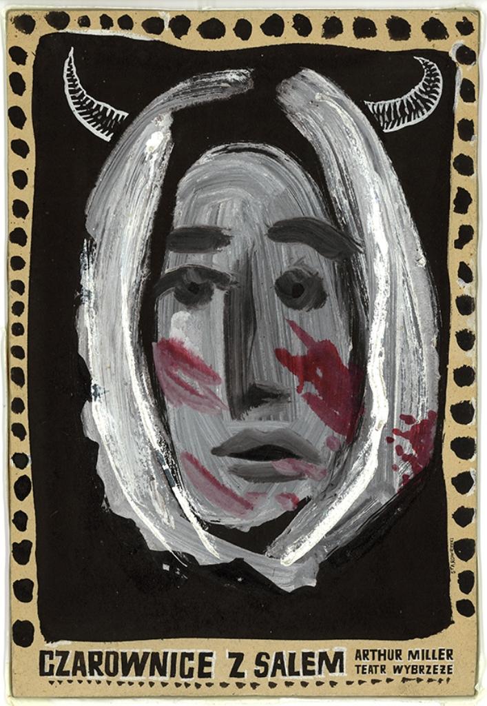 """""""Czarownice z Salem"""", reż. Adam Nalepa - plakat autorstwa Franciszka Starowieyskiego (źródło: materiały prasowe)"""