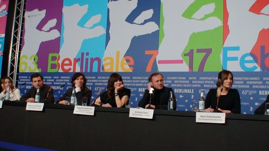 """""""W Imię"""" – konferencja prasowa podczas 63. Berlinale, fot. Alexandra Hołownia"""