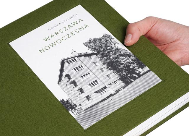 """Czesław Olszewski, """"Warszawa nowoczesna"""", projekt okładki: Michał Kaczyński (źródło: materiały prasowe organizatora)"""