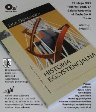 """Ewa Domańska, """"Historia egzystencjalna: studium narratywizmu i humanistyki zaangażowanej"""", okładka (źródło: materiał prasowy)"""