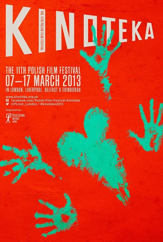 """Festiwal Polskich Filmów """"Kinoteka"""" Wielkiej Brytanii - plakat (źródło: materiały prasowe)"""