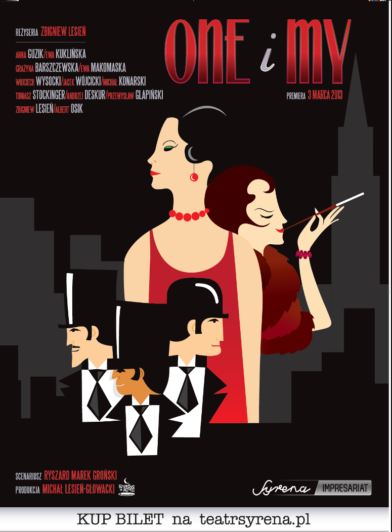 """""""One i my"""", reż. Zbigniew Lesień, Teatr Syrena, Warszawa, plakat (źródło: materiał prasowy)"""