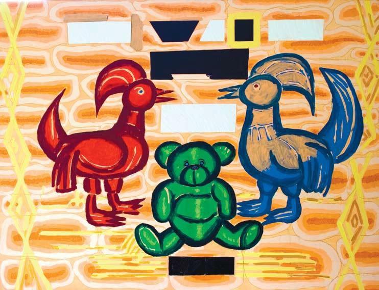 """Ryszard Grzyb, """"Biały czarny, biały czarny, biały czarny, biały czarny"""", 2007 (źródło: materiały prasowe organizatora)"""