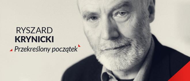 """Ryszard Krynicki, """"Przekreślony początek"""", logo (źródło: materiał prasowy)"""
