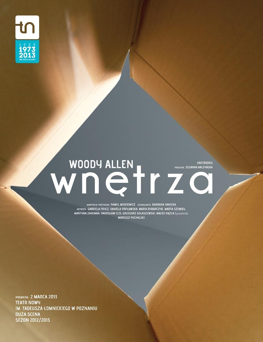 """""""Wnętrza"""", reż. Paweł Miśkiewicz, plakat (źródło: materiał prasowy)"""
