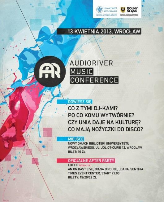 III Konferencja Muzyczna Audioriver - plakat (źródło: materiały prasowe)