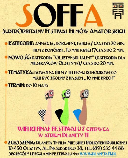 7. Superorbitalny Festiwal Filmów Amatorskich SOFFA w Olsztynie - plakat (źródło: materiały prasowe)