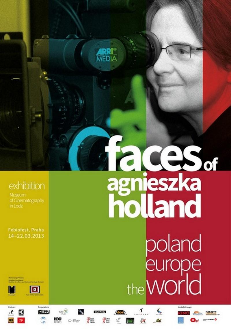"""Wystawa """"Polska. Europa. Świat – twarze Agnieszki Holland"""" w Pradze - plakat (źródło: materiały prasowe)"""