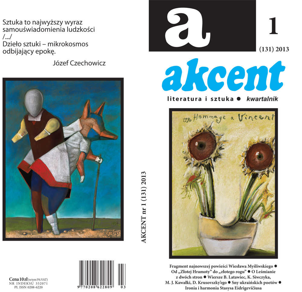 Akcent - pierwszy numer w 2013 roku (źródło: materiały prasowe wydawcy)