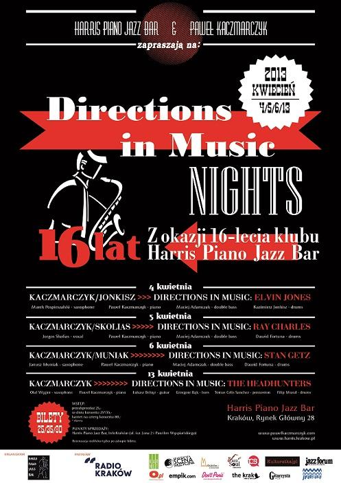 """""""Directions in Music Nights"""" - plakat (źródło: materiały prasowe)"""