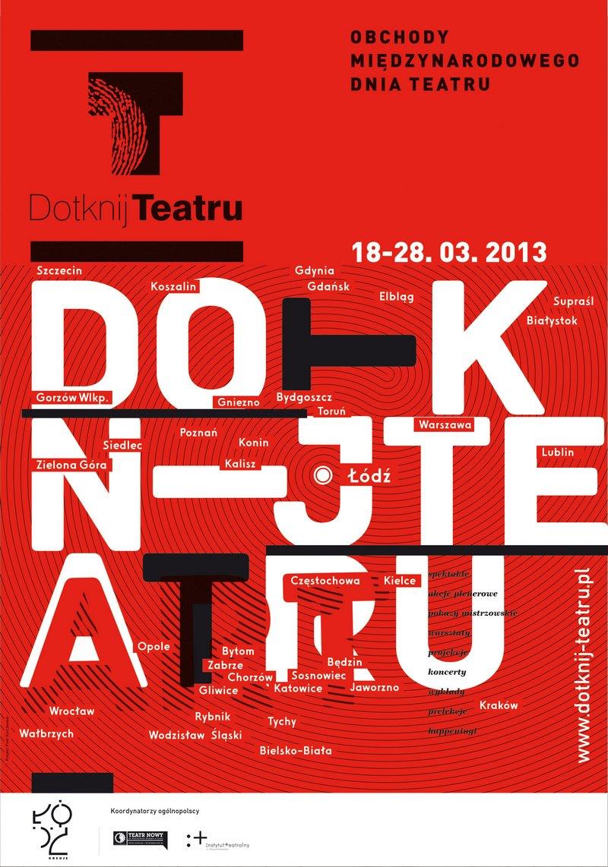 Projekt Dotknij teatru – plakat (źródło: materiały prasowe)