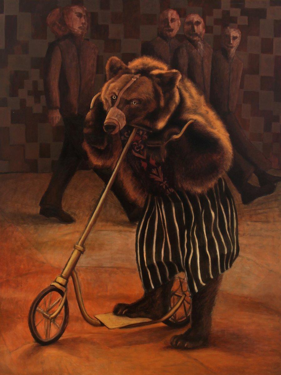 Praca z wystawy Filipa Kałkowskiego i Joanny Rusinek, Galeria Sztuki Van den Ber w Warszawie (źródło: materiały prasowe organizatora)