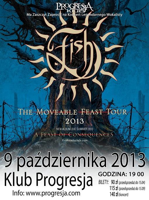 Fish, koncert w klubie Progresja - plakat (źródło: materiały prasowe)