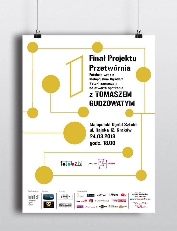 Gala Finałowa Projektu Przetwórnia, Małopolski Ogród Sztuki w Krakowie, plakat (źródło: materiały prasowe organizatora)
