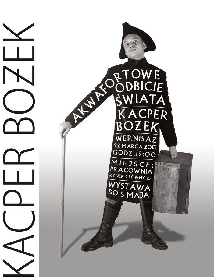 """Kacper Bożek, """"Akwafortowe odbicie świata"""", Pracownia Pałacu pod Baranami w Krakowie, plakat (źródło: materiały prasowe organizatora)"""