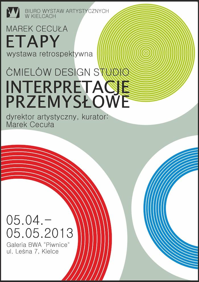 """Marek Cecuła """"Etapy"""" oraz Ćmielów Design Studio """"Interpretacje przemysłowe"""" (źródło: materiały prasowe organizatora)"""