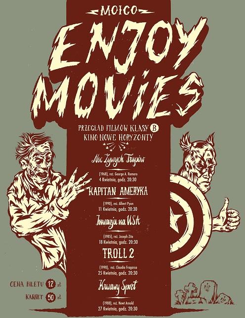 """Przegląd Filmów Klasy B """"Moico Enjoy Movies"""" - plakat (źródło: materiały prasowe)"""
