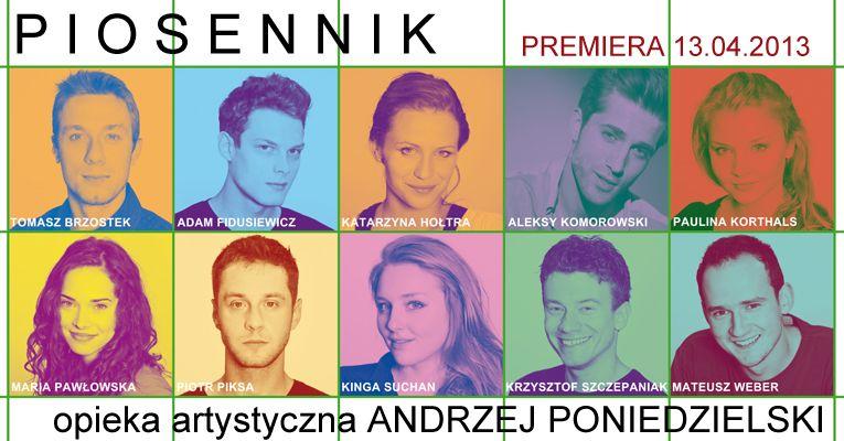 """""""Piosennik"""" Andrzeja Poniedzielskiego, Teatr Ateneum w Warszawie (źródło: materiały prasowe)"""