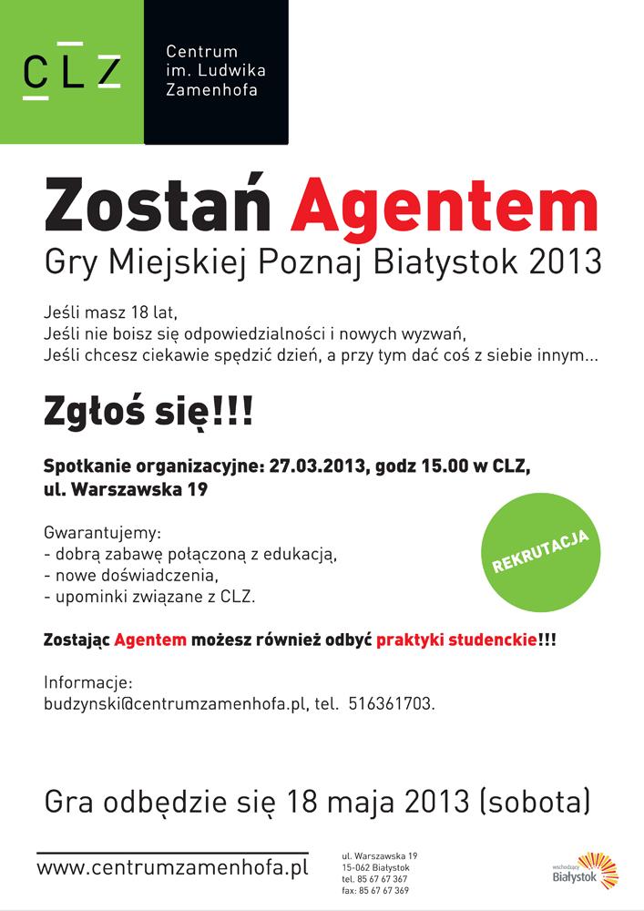 Afisz gry miejskiej Poznaj Białystok (źródło: materiały prasowe organizatora)