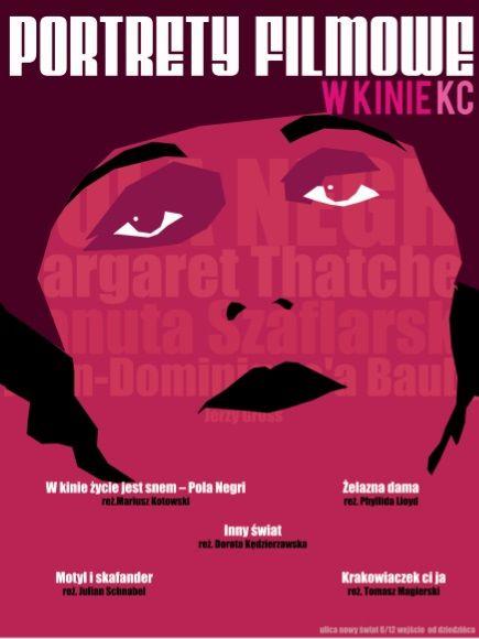 Przegląd Portrety Filmowe w Warszawie - plakat (źródło: materiały prasowe)