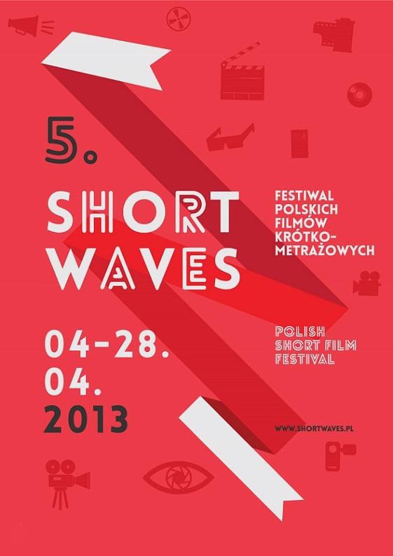 5. Festiwal Polskich Filmów Krótkometrażowych Short Waves – plakat (źródło: materiały prasowe)