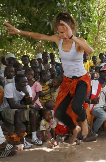 Warsztaty tanców afrykańskich w ramach festiwalu AfryKamera (źródło: materiały prasowe organizatora)