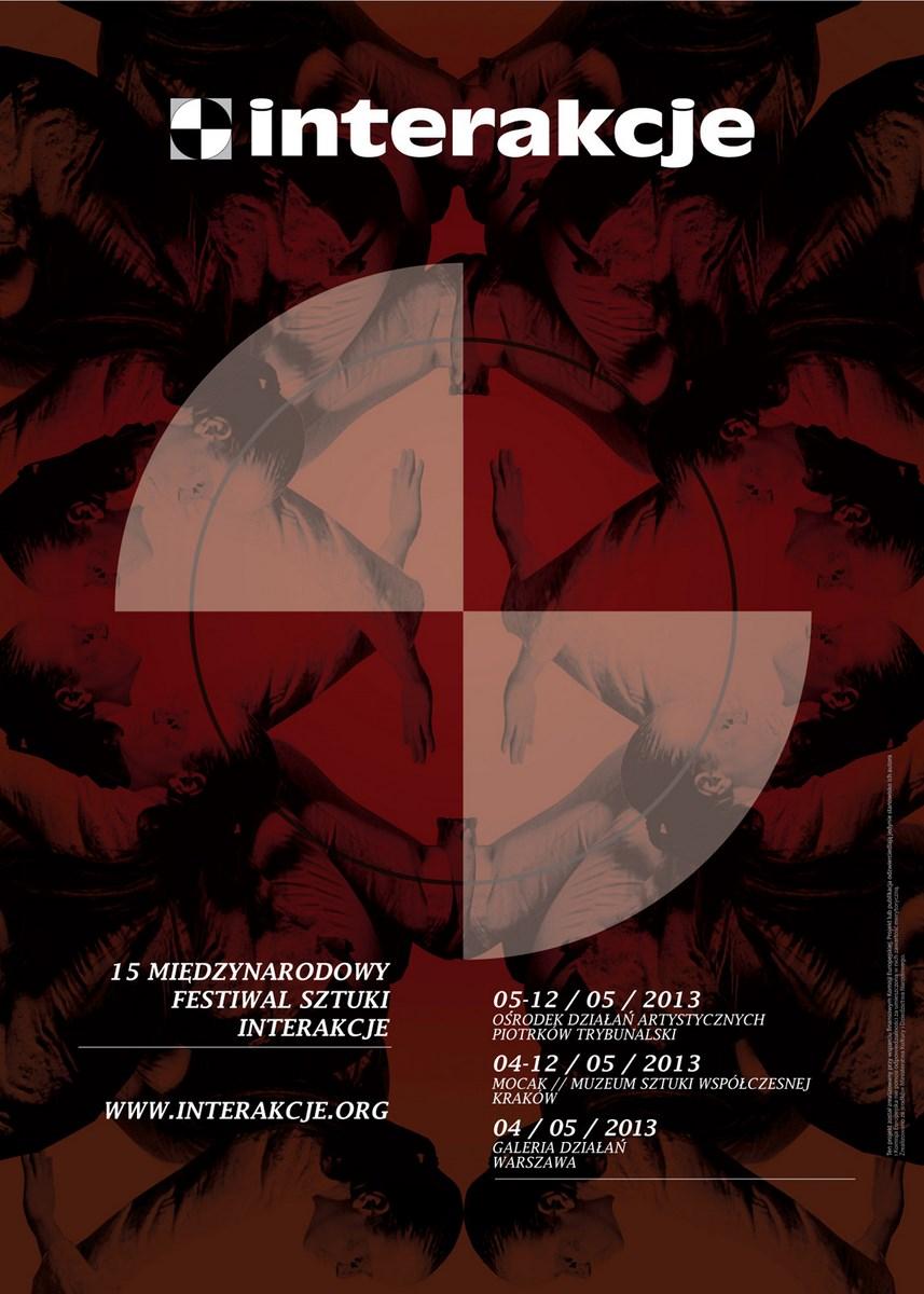 15. Międzynarodowy Festiwal Sztuki Interakcje, plakat (źródło: materiały prasowe organizatora)