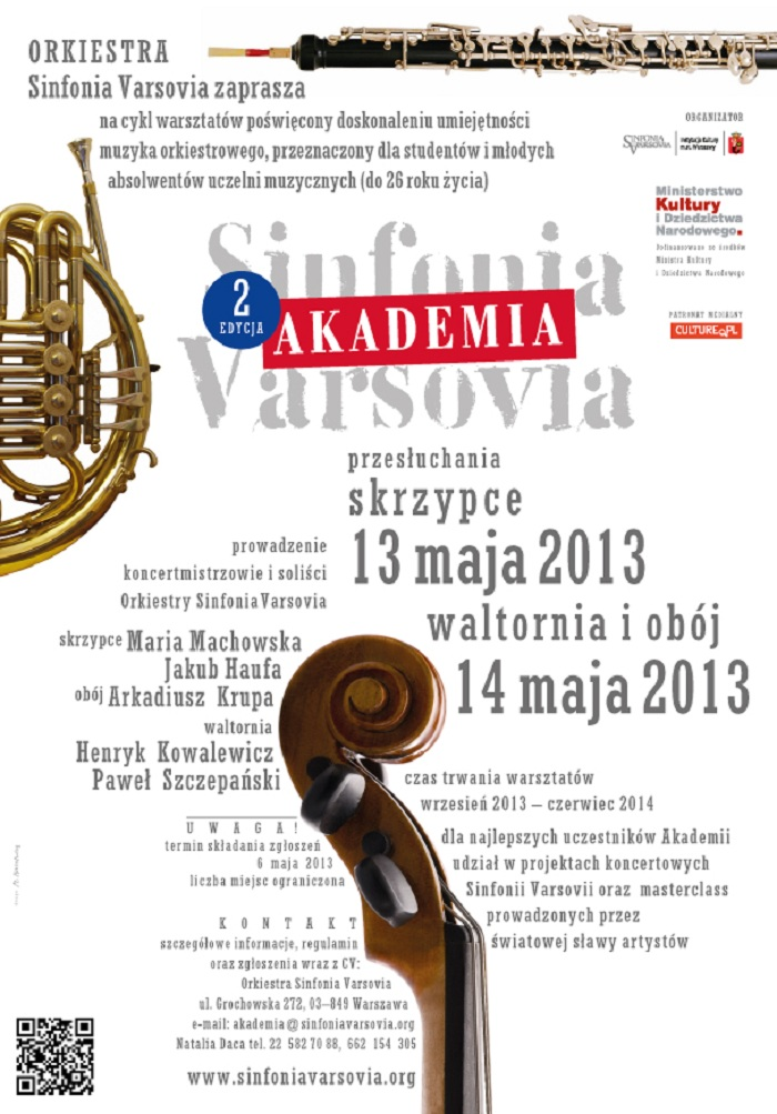 Akademia Sinfonia Varsovia, plakat (źródła: mat. prasowe)