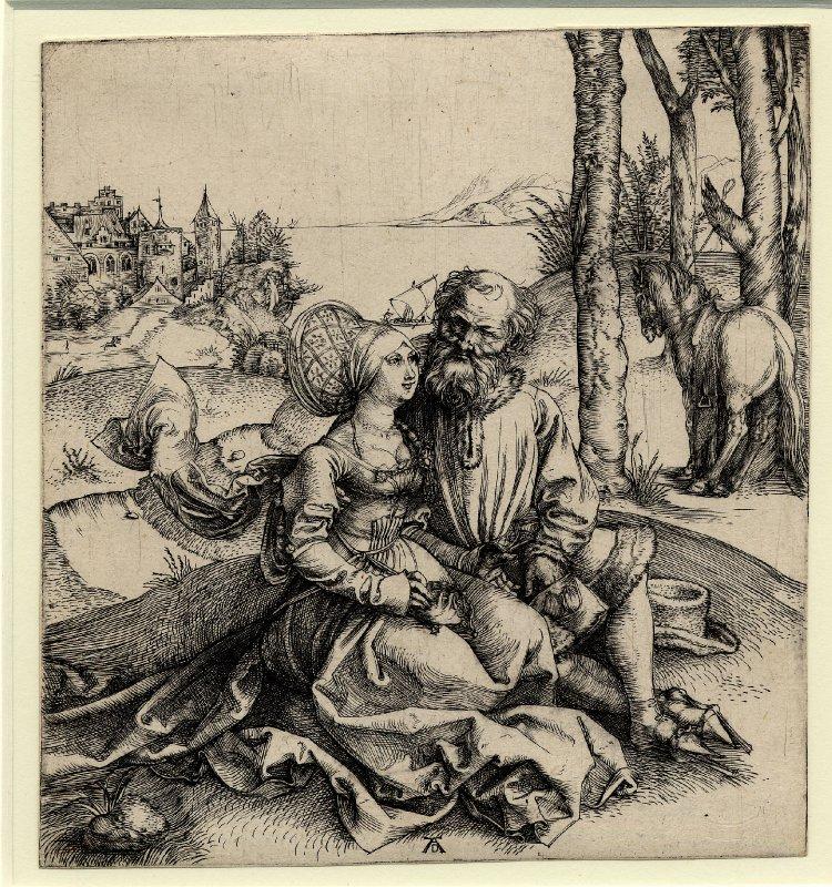 """Albrecht Dürer, """"Niedobrana para"""" (ze zbiorów Gabinetu Rycin Biblioteki Naukowej PAU i PAN w Krakowie)"""