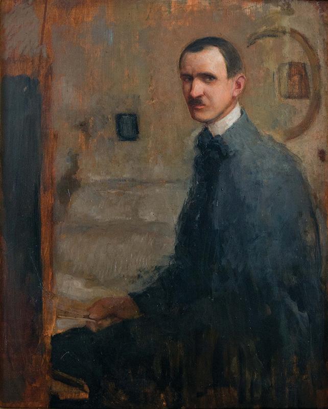 """Alfons Karpiński, """"Autoportret"""", 1907 (źródło: materiały prasowe organizatora)"""