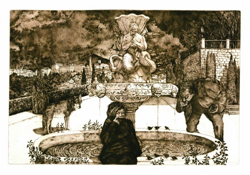 """Anna Janusz Strzyż, """"Pielgrzym. Sen o fontannie"""" (źródło: materiały prasowe organizatora)"""