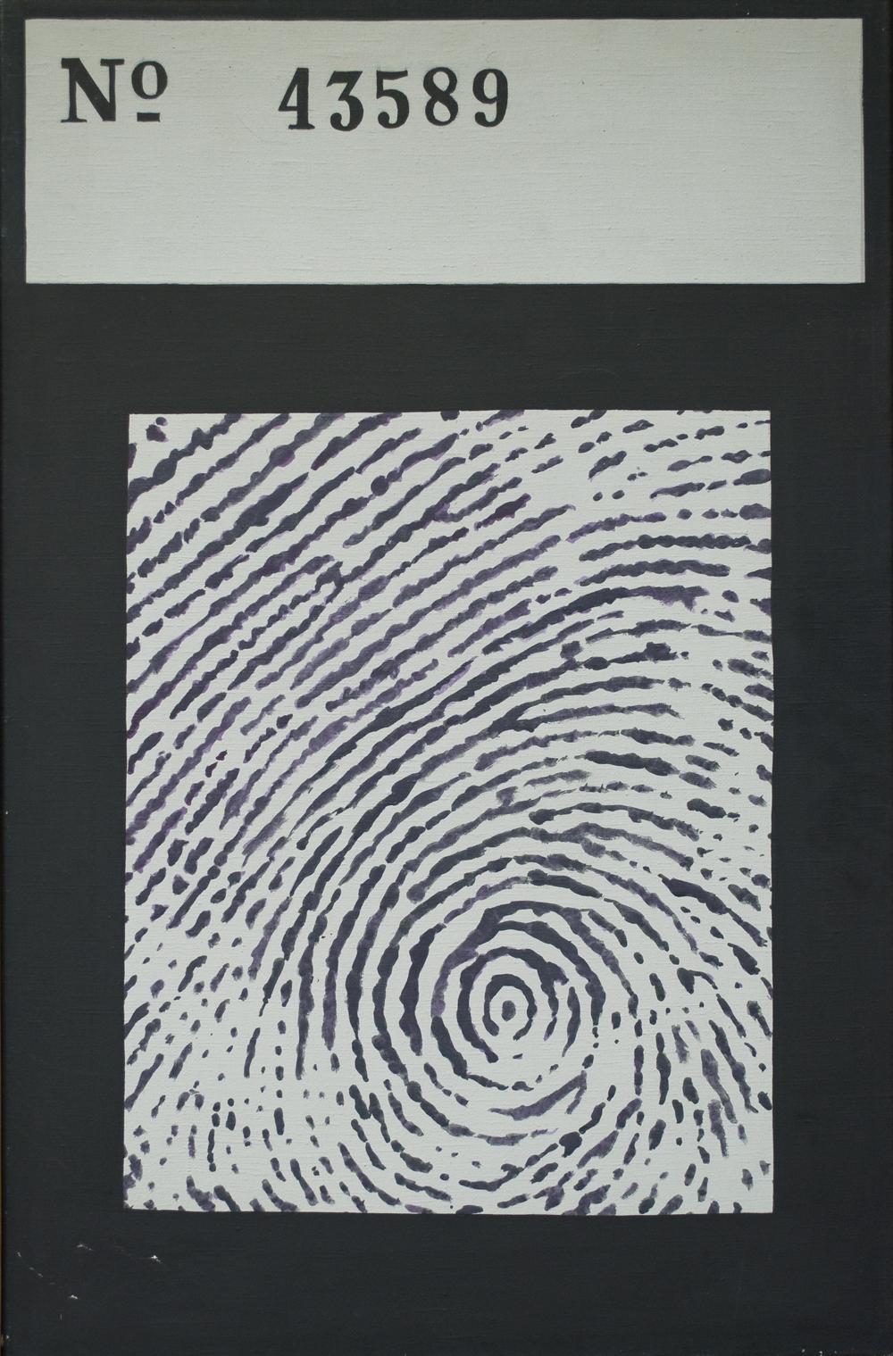 """Danuta Urbanowicz, """"Nr sprawy"""", 1972, reprodukcja z Archiwum Galerii Zderzak (źródło: materiały prasowe organizatora)"""
