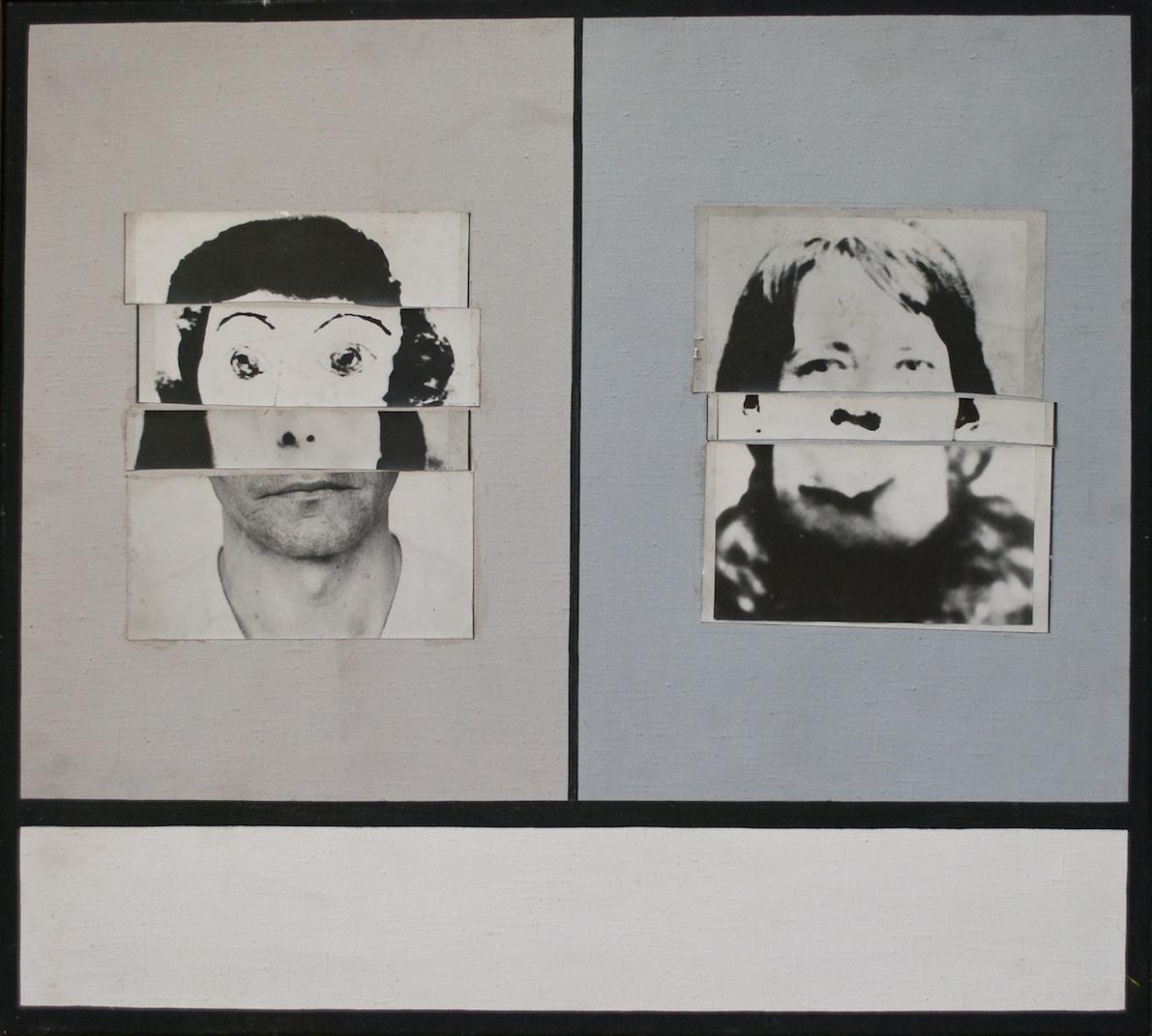"""Danuta Urbanowicz, """"Portret składany"""", 1972, reprodukcja z Archiwum Galerii Zderzak (źródło: materiały prasowe organizatora)"""